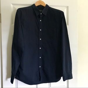 Men's Banana Republic Navy Cotton Shirt